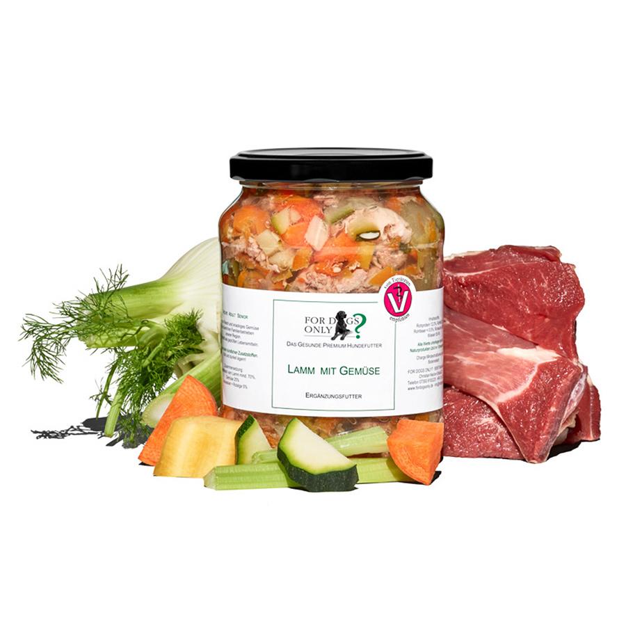Premium Hundefutter Lamm mit Gemüse