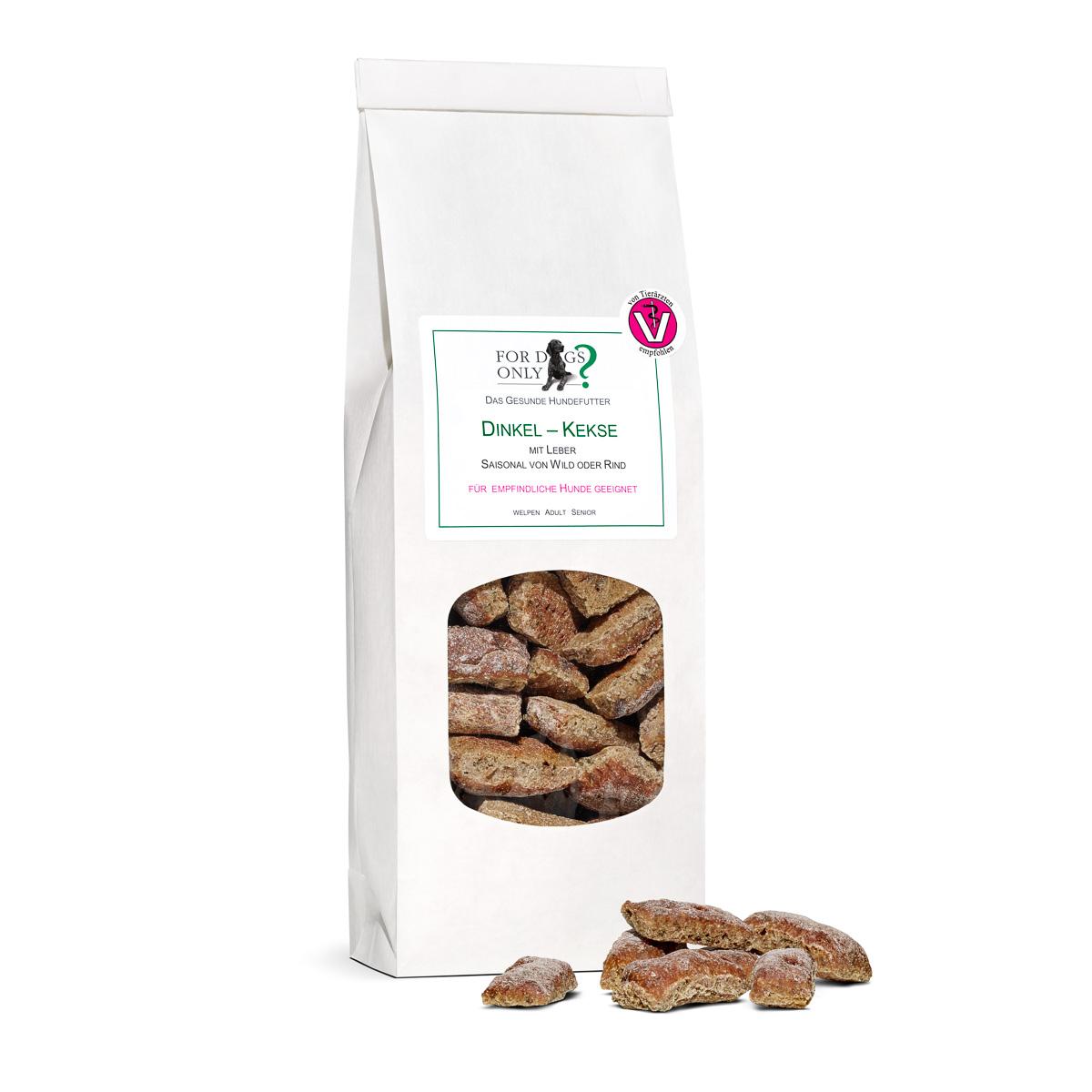 Dinkel-Leber-Kekse für kleine Hunde