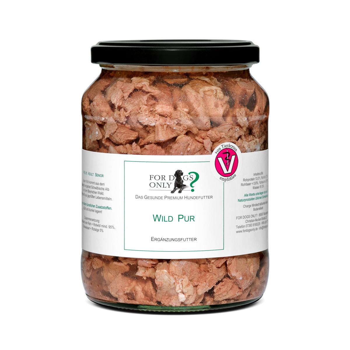 Premium Hundefutter Wild Pur