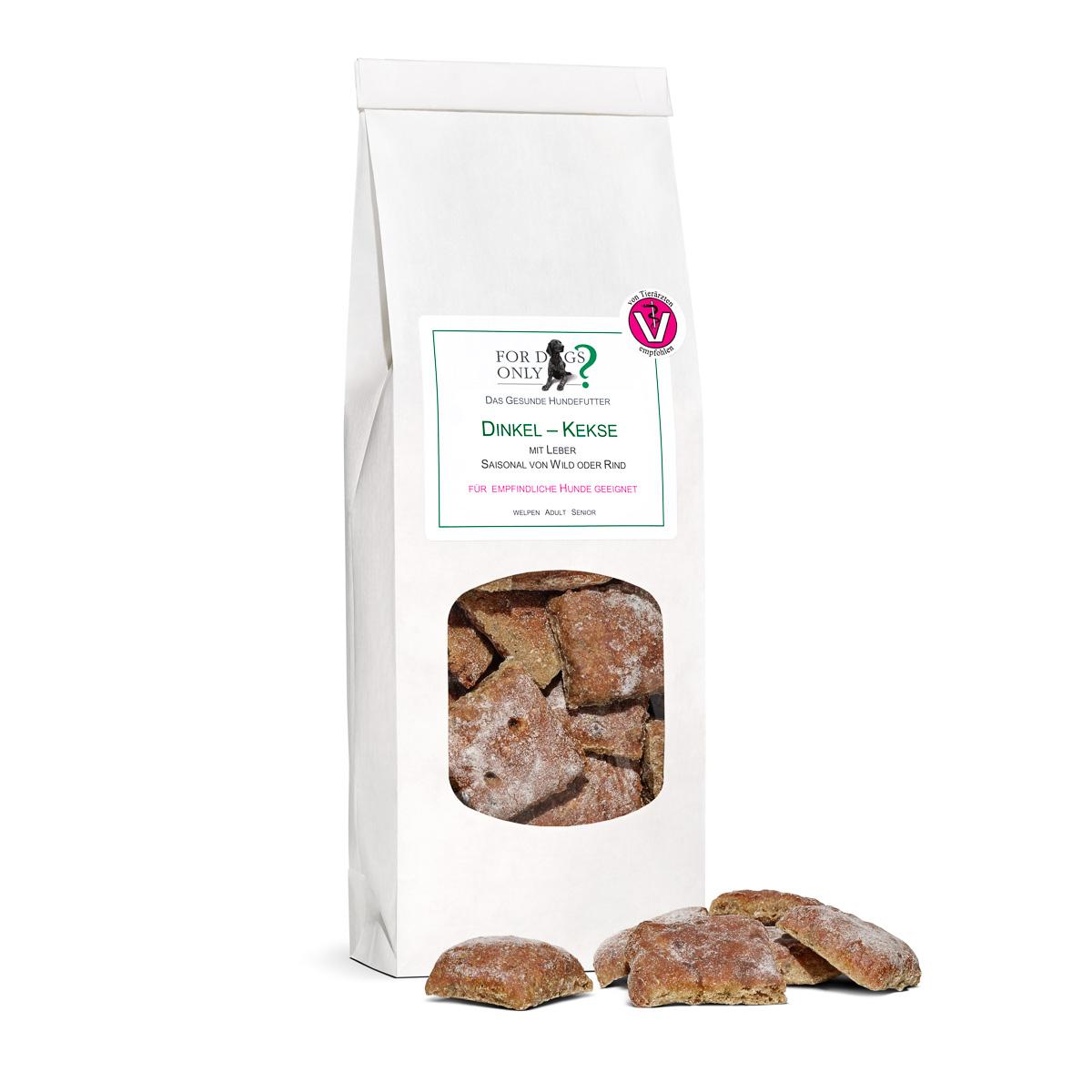 Dinkel-Leber-Kekse  für große Hunde