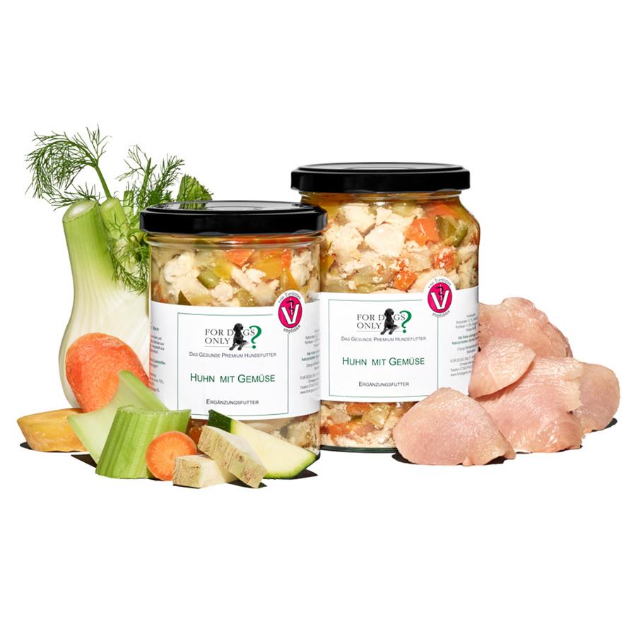 Premium Hundefutter Huhn mit Gemüse