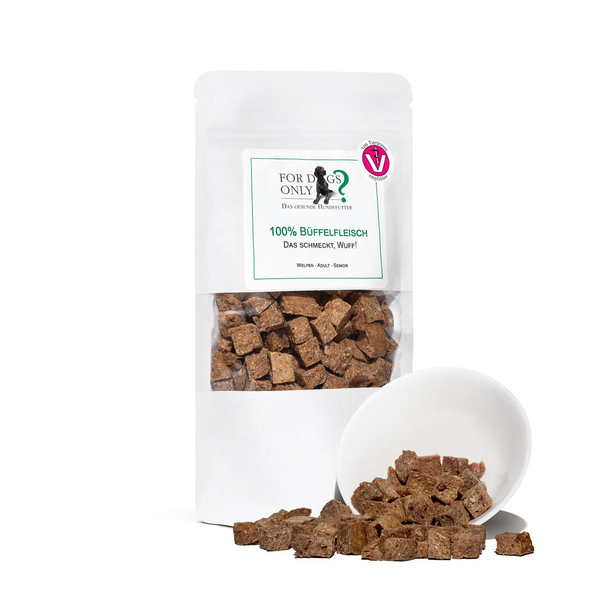 Premium Hundesnack 100 % Büffelfleisch